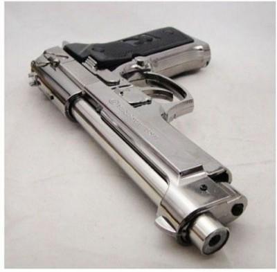 Vanyas Plastic Gas Lighter(Silver, Pack of 1)