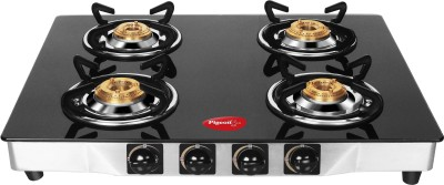 Pigeon Blackline Square SS Gas Cooktop (4 Burner)