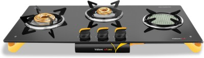 Vidiem AIR ORO Glass Manual Gas Stove(3 Burners)