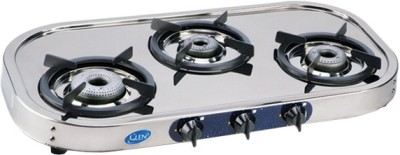 GLEN Stainless Steel Manual Gas Stove(3 Burners)