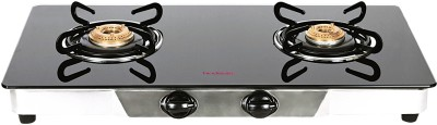 Hindware Armo Stainless Steel, Glass Automatic Gas Stove(2 Burners)