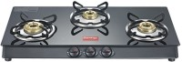 Prestige Marvel Plus 3 Burner Glass, Stainless Steel Manual Gas Stove(3 Burners)