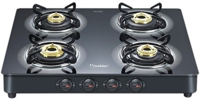 Prestige Royale LP Gas Table with Glass Top Aluminium, Glass Manual Gas Stove