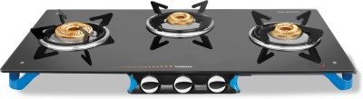 Vidiem AIR Stile Plus Glass Manual Gas Stove(3 Burners)