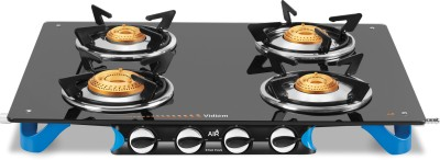 Vidiem AIR Stile Plus Glass Manual Gas Stove(4 Burners)