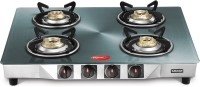 Pigeon Smart Plus Metallic Silver Glass Manual Gas Stove
