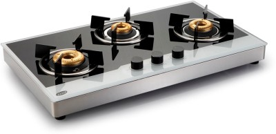 GLEN Glass Automatic Gas Stove(3 Burners) at flipkart
