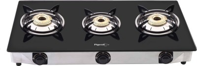 Pigeon Favourite Glass, Stainless Steel Manual Gas Stove(3 Burners)