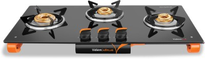 Vidiem AIR Plus Glass Manual Gas Stove(3 Burners)
