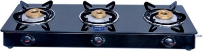 Surya Accent Glass Manual Gas Stove(3 Burners)