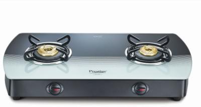 Prestige GTS 02 Glass, Aluminium Manual Gas Stove(2 Burners)