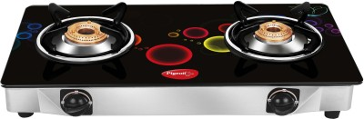 Pigeon Smart Plus Stainless Steel, Glass Manual Gas Stove(2 Burners)