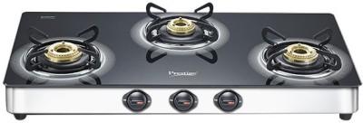Prestige GT 03 SS Glass, Stainless Steel Manual Gas Stove(3 Burners) at flipkart