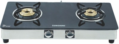Sunshine Alfa Ss Toughened Glass Gas Cooktop (2 Burner)