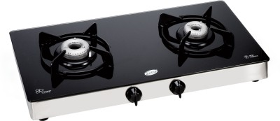GLEN Glass Manual Gas Stove(2 Burners)