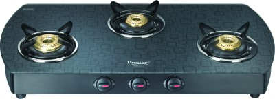 Prestige Premia Glass Gas Cooktop (3 Burner)