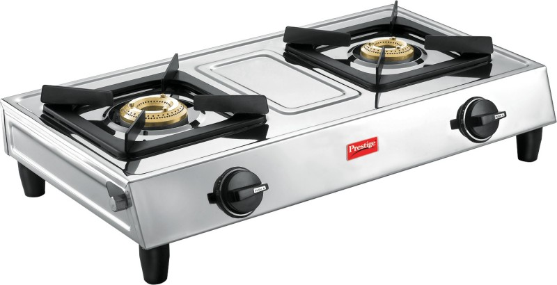 Prestige Eco Stainless Steel Manual Gas Stove(2 Burners)