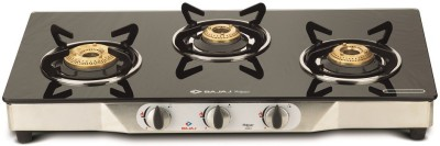 Bajaj Majesty CGX3 Eco Stainless Steel, Glass Manual Gas Stove(3 Burners)