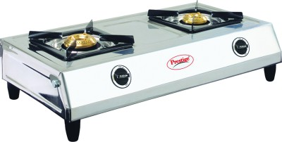 Prestige Shakti Stainless Steel Manual Gas Stove(2 Burners)