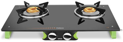 Vidiem AIR Spice Glass Manual Gas Stove(2 Burners) at flipkart