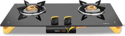 Vidiem AIR ORO Glass Manual Gas Stove(2 Burners) at flipkart