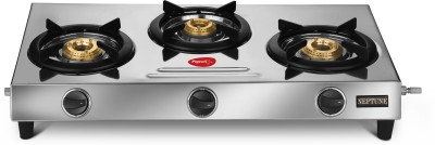 Pigeon Stainless Steel Manual Gas Stove(3 Burners)