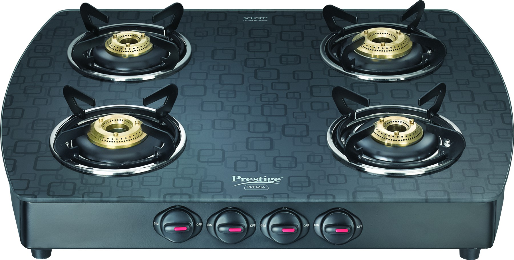 Gas Cooktop Glass Compare Prestige Schot Glass Stove Glass Aluminium Manual Gas