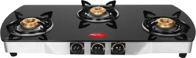 Pigeon Blackline Oval Stainless Steel, Glass Automatic Gas Stove