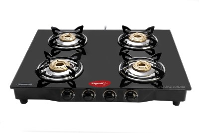 Pigeon Brass Square Stainless Steel Manual Gas Stove(4 Burners) at flipkart