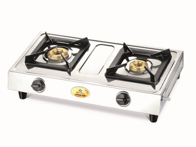 Bajaj Popular Eco Stainless Steel Manual Gas Stove(2 Burners)