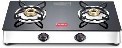Prestige Marvel Plus Glass, Aluminium Manual Gas Stove(2 Burners)