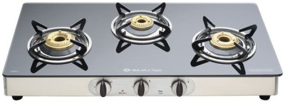 Bajaj Jewel Bubble Stainless Steel Manual Gas Stove(3 Burners)