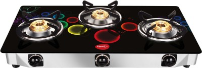 Pigeon Smart Plus Stainless Steel, Glass Manual Gas Stove