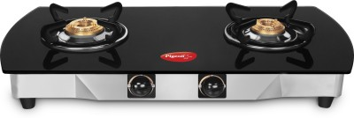 Pigeon Stainless Steel, Glass Manual Gas Stove(2 Burners) at flipkart
