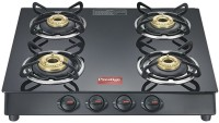 Prestige Marvel Plus Glass, Stainless Steel Manual Gas Stove(4 Burners)
