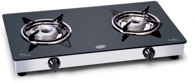 GLEN Glass Cooktop Stainless Steel Manual Gas Stove(2 Burners)