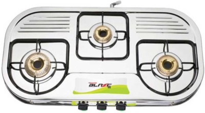 Butterfly Stainless Steel Manual Gas Stove(3 Burners)