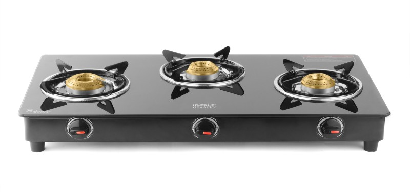 Ideale Trego Steel Manual Gas Stove(3 Burners)