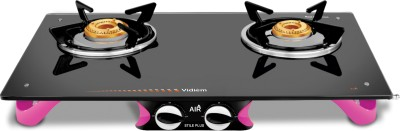 Vidiem AIR Stile Plus Glass Manual Gas Stove(2 Burners)