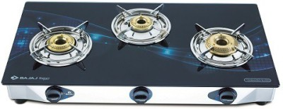 Bajaj Majesty Jewel Wave Stainless Steel, Glass Manual Gas Stove(3 Burners)