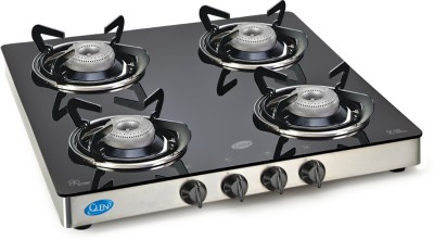 GLEN Stainless Steel Manual Gas Stove(4 Burners) at flipkart