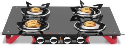 Vidiem AIR Elan Glass Manual Gas Stove(4 Burners)