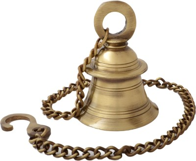 Handecor Hanging Bell With Chain Brass D...
