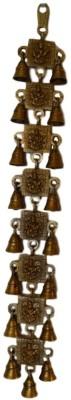 POOJA GHAR 17 BELLS HANGING STRINGS SARASWATI Brass Pooja Bell