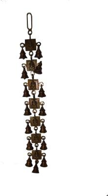 Quality Mart Hangings Door Ganesha Brass Decorative Bell
