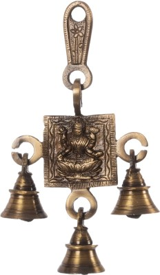 eCraftIndia Goddess Laxmi Hanging Brass Pooja Bell(Brown, Gold, Pack of 1)
