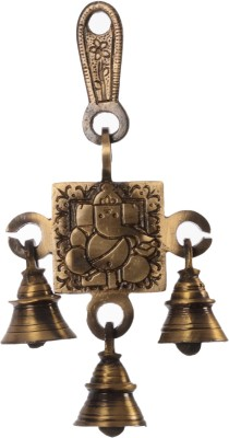 eCraftIndia Lord Ganesha Hanging Brass Pooja Bell(Brown, Gold, Pack of 1)