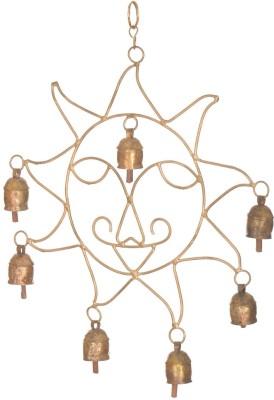 A33 Store Sun Shape Brass Decorative Bell