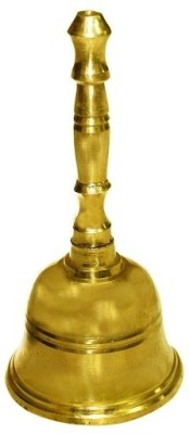 Vedic Vaani Altar Brass Pooja Bell(Gold, Pack of 1)