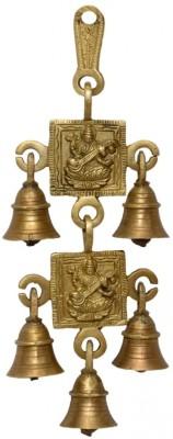 Raga Arts Saraswathi 2 in 1 Brass Cow Bell(Gold, Pack of 1)